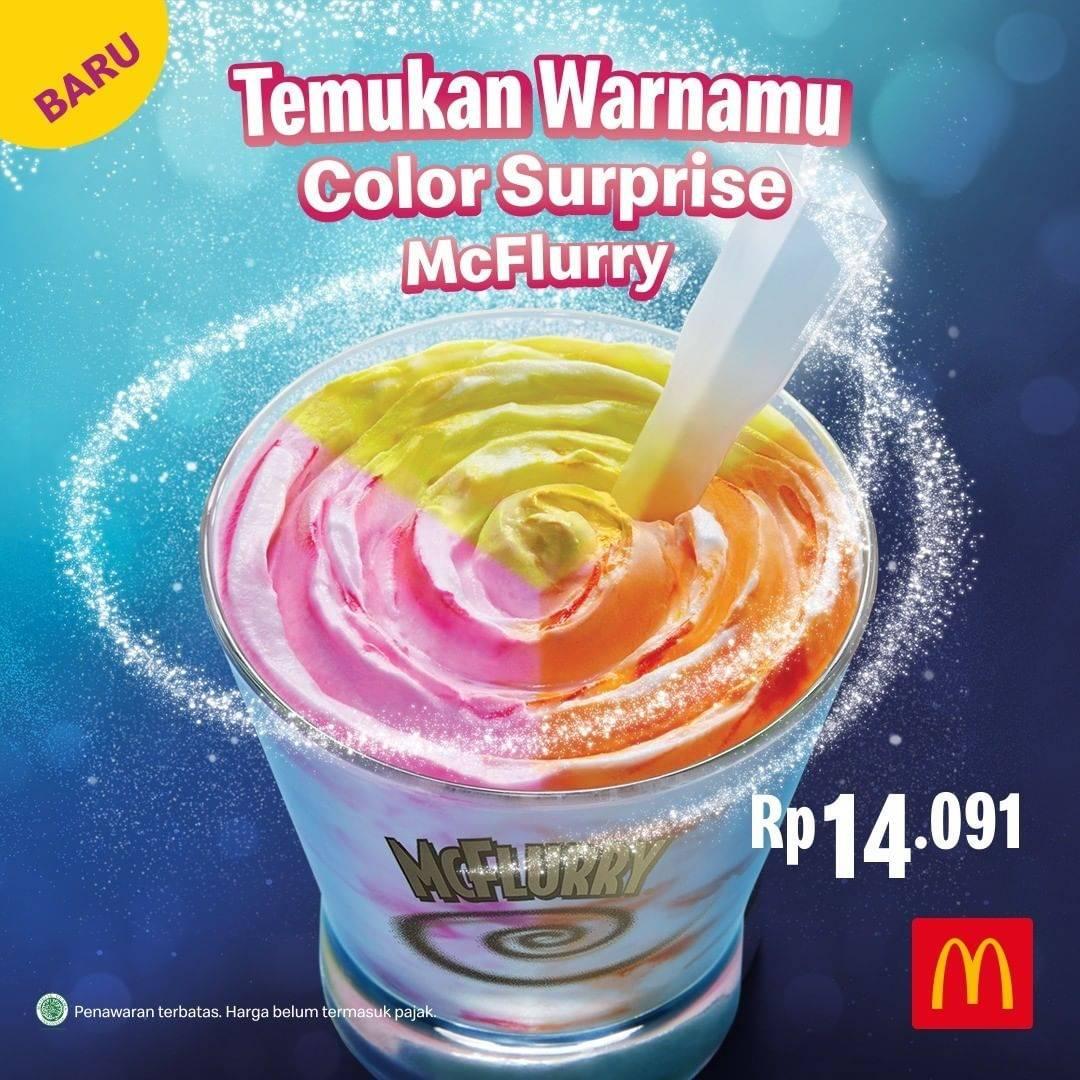Diskon McDonalds Promo Harga Spesial Color Surprise McFlurry Cuma Rp. 14.091