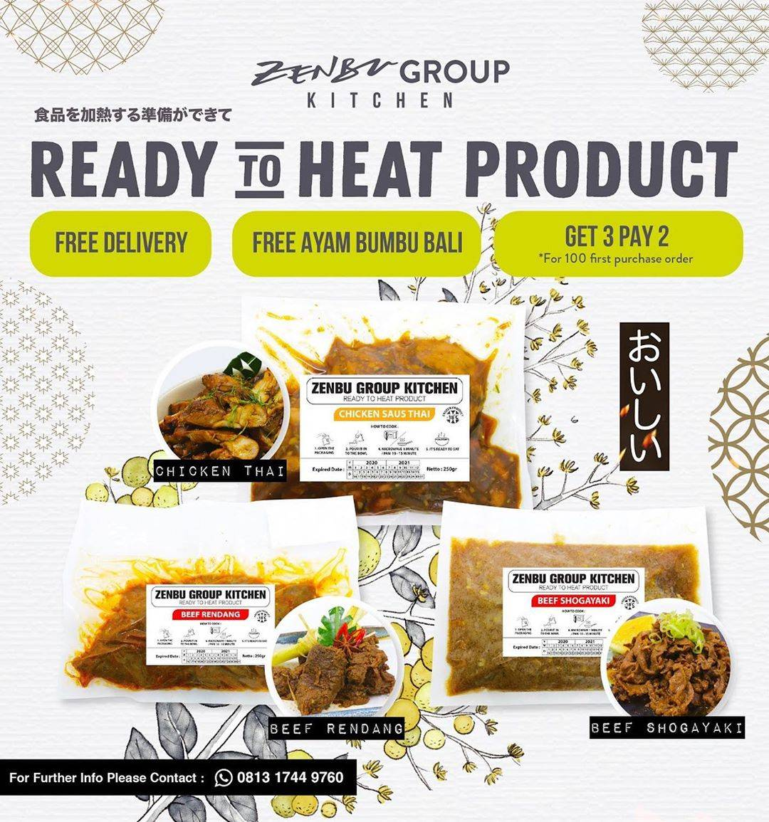Diskon Zenbu Group Kitchen Promo Gratis Ayam Bumbu Bali, Buy 2 Get 3, Gratis Ongkir