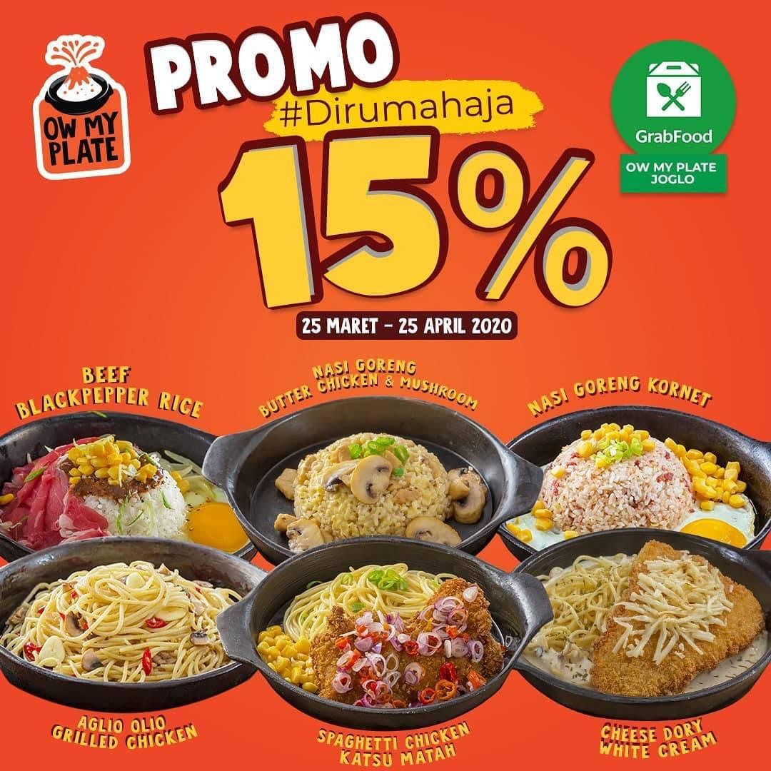 Ow My Plate Joglo Promo Diskon 15% Pemesanan Di GrabFood