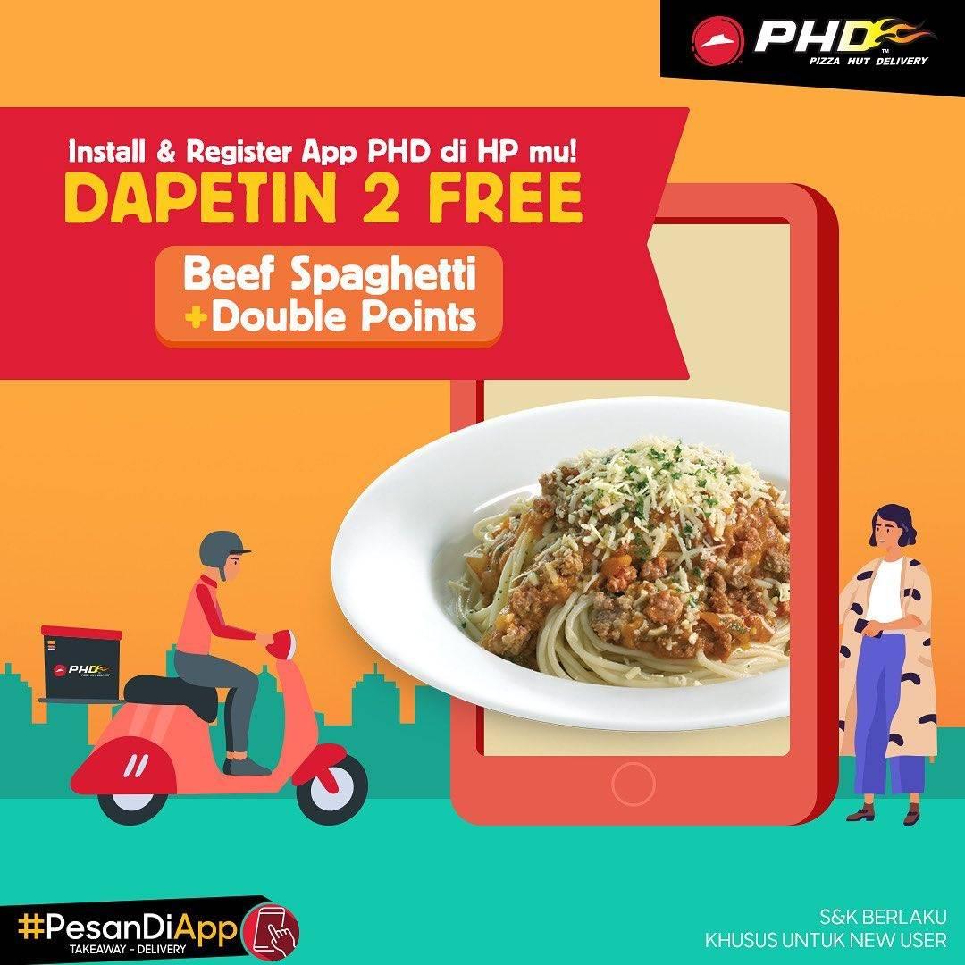 PHD Promo Gratis Beef Spaghetti + Double Points Setiap Install & Registrasi Di PHD App