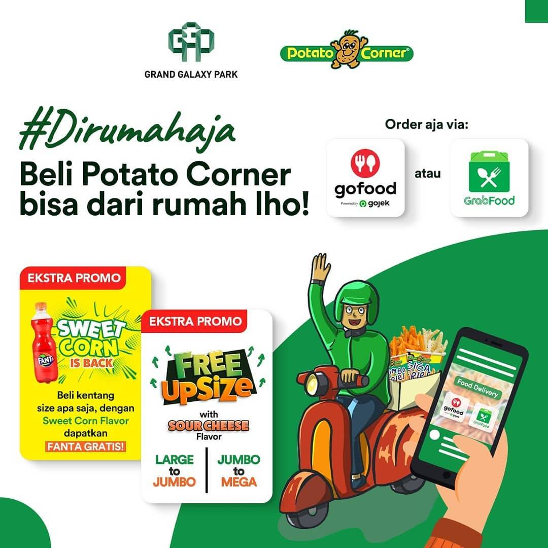 Diskon Potato Corner Promo Free Upsize With Sour Cheese Flavor & Free Fanta
