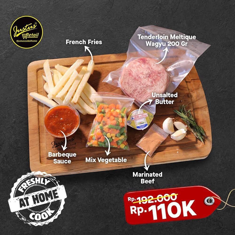 Diskon Just Us Steak House Promo Special Value Of Tanderlion Meltique Wagyu Only For IDR. 110.000