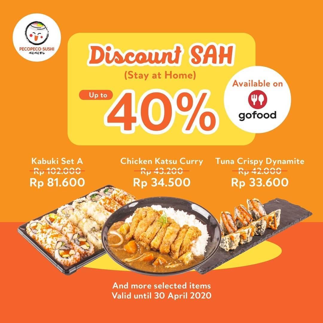 Diskon Peco Peco Sushi Promo Stay At Home, Diskon Hingga 40% Untuk Pemesanan Via GoFood