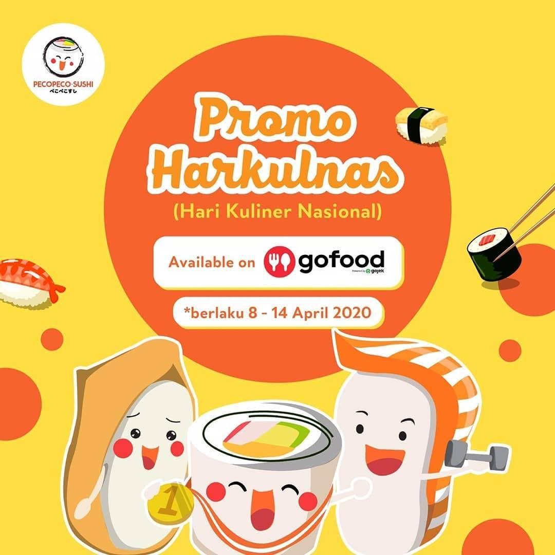 Diskon Peco Peco Sushi Promo Harkulnas Hanya Di Aplikasi GoFood