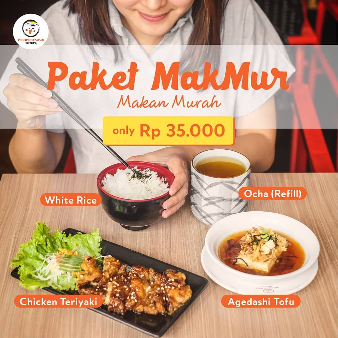 Peco Peco Sushi Promo Paket Makan Murah Cuma Rp. 35.000