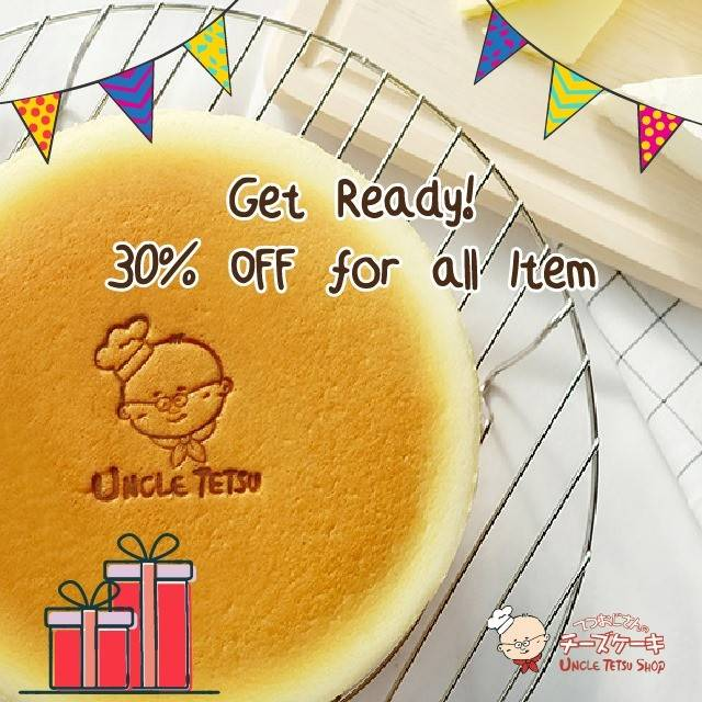 Diskon Uncle Tetsu Promo 3rd Anniversary, Discount 30% Off Of All Items + Free Delivery
