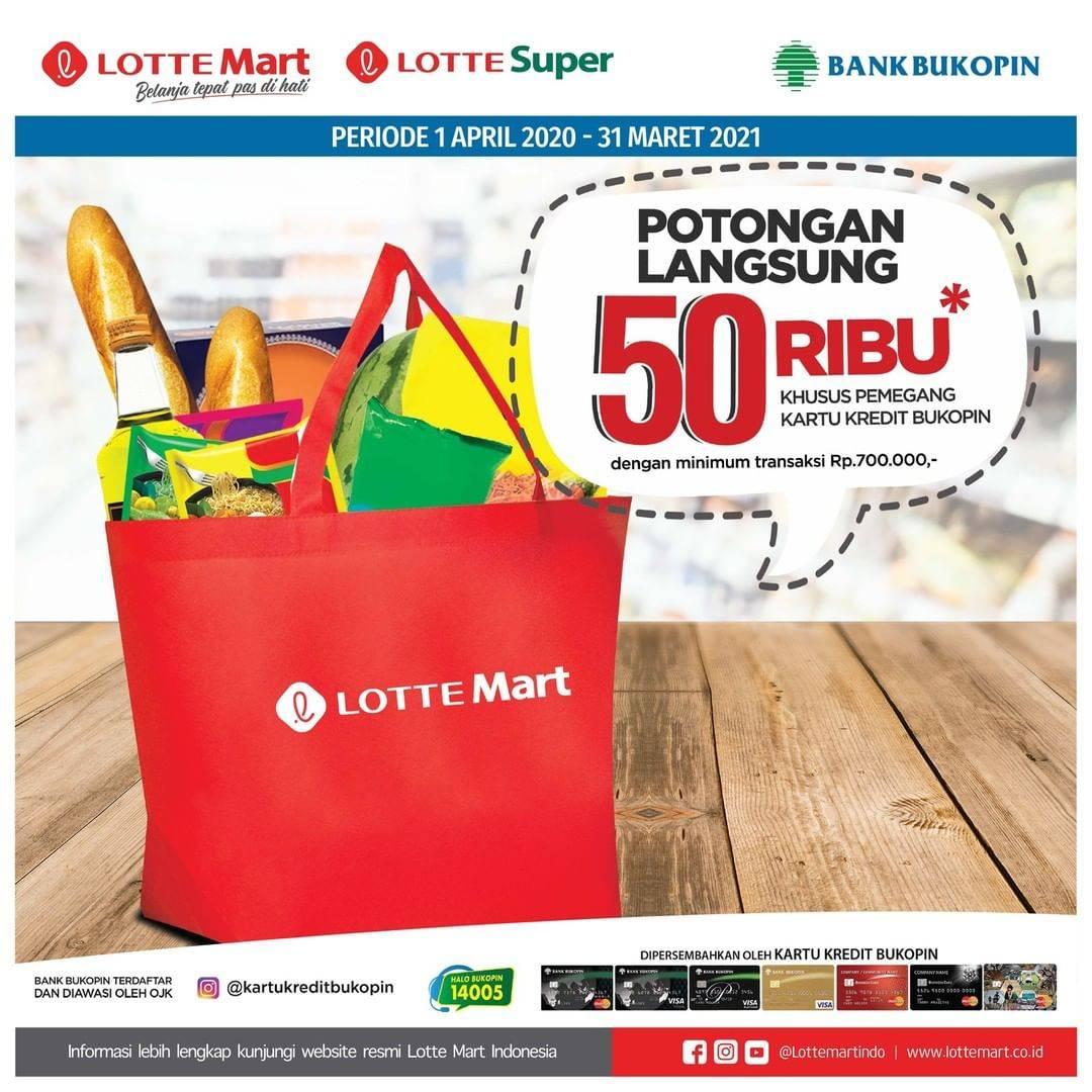 LOTTEMart Promo Diskon Rp. 50.000 Untuk Pemegang Kartu Kredit Bukopin
