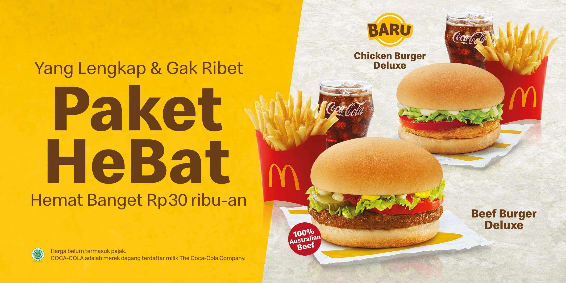 Diskon McDonalds Promo Harga Spesial Paket HeBat Mulai Dari Rp. 30ribuan