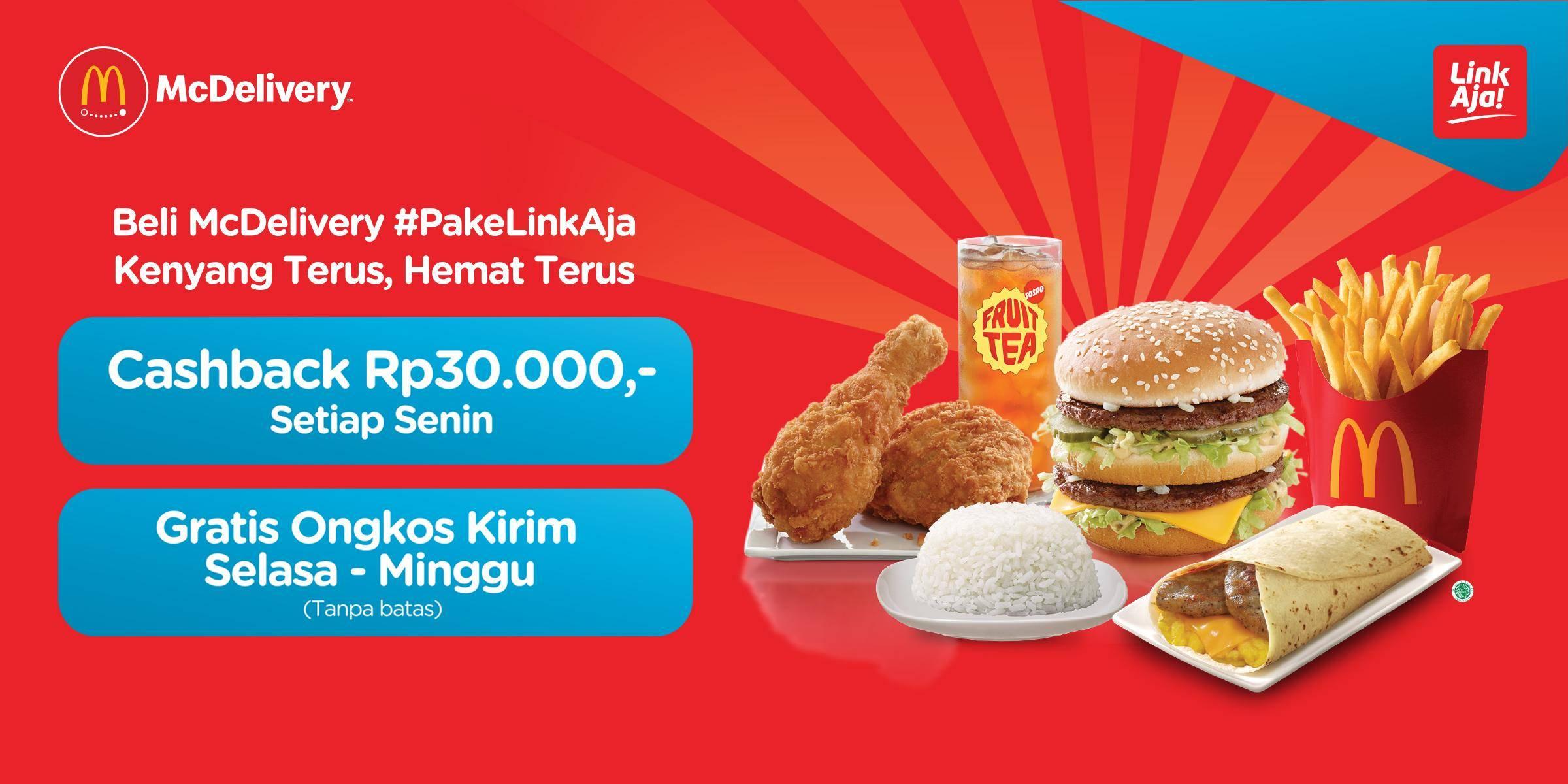 McDonalds Promo Cashback Rp. 30.000 Dengan Transaksi Menggunakan Link Aja App