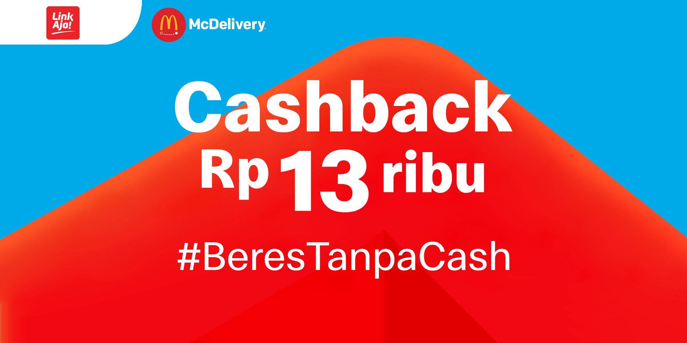 McDonalds Promo Cashback Rp. 13.000 Untuk Transaksi Menggunakan LinkAja App