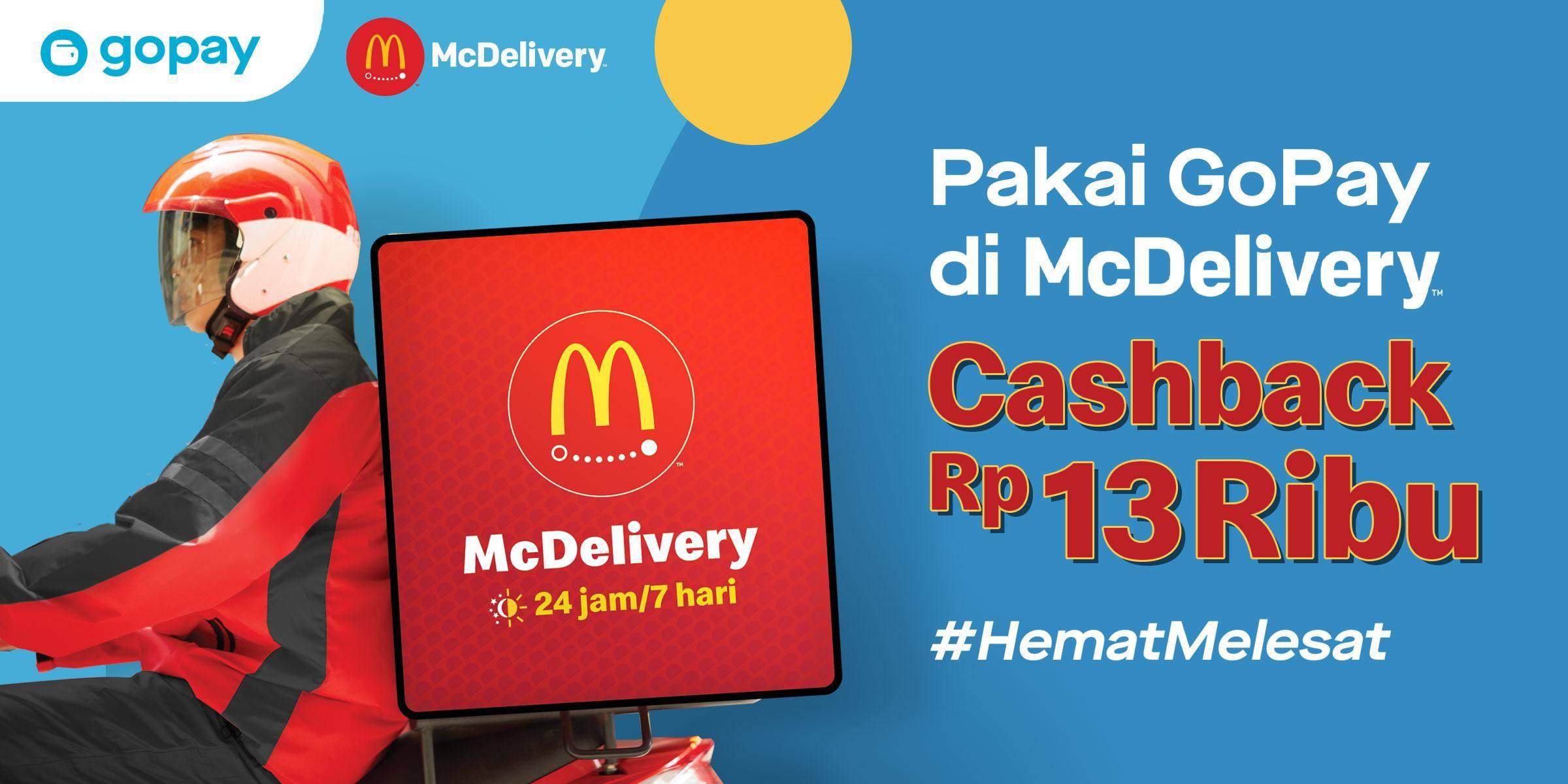 McDonalds Promo Cashback Rp. 13.000 Untuk Transaksi Menggunakan GoPay App