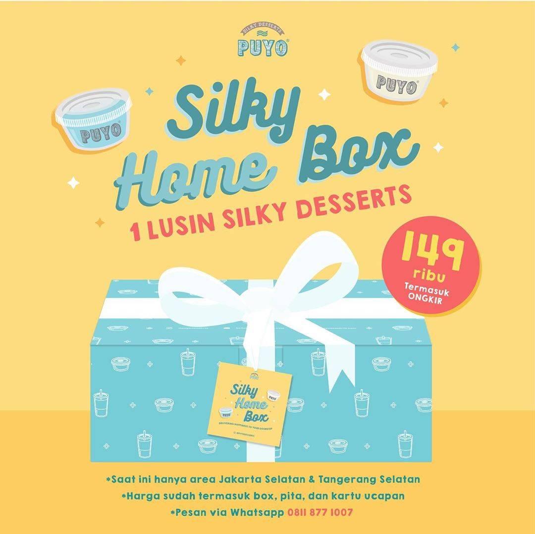 Diskon Puyo Promo 1 Lusin Silky Desserts Dengan Harga Rp. 149.000 Sudah Termasuk Ongkir