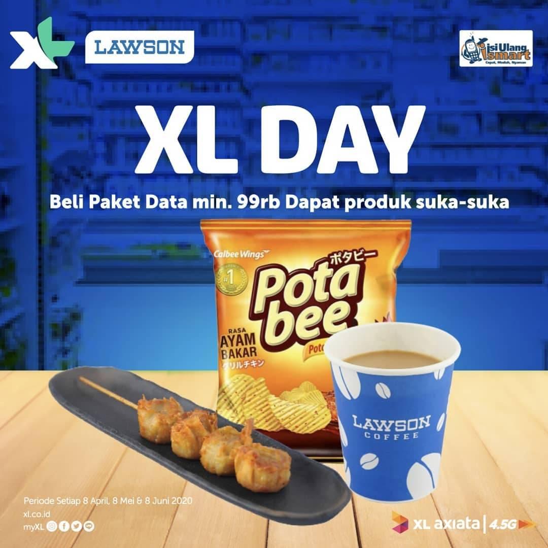 Diskon Lawson Promo Gratis Produk Favorit Setiap Pembelian Paket Data XL Minimal Rp. 99.000