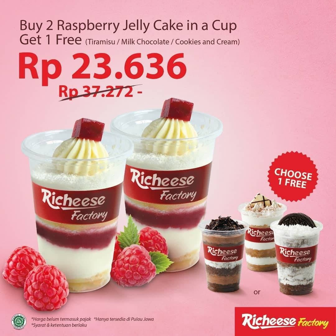 Diskon Richeese Factory Promo Gratis 1 Cake In A Cup Setiap Pembelian 2 Raspberry Cake In A Cup
