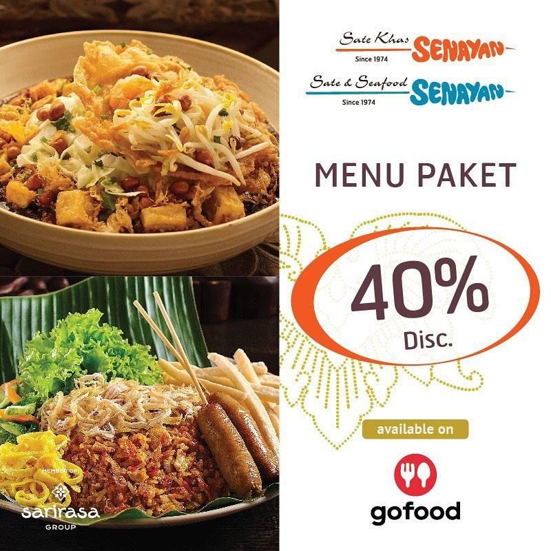 Sate Khas Senayan Promo Diskon 40% Untuk Pemesanan Paket Pilihan Melalui GoFood