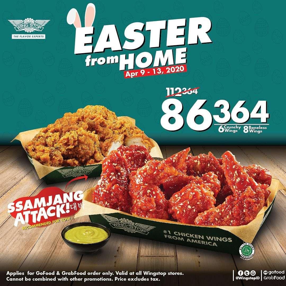 Wingstop Promo Harga Spesial Menu Easter From Home Hanya Rp. 86.364