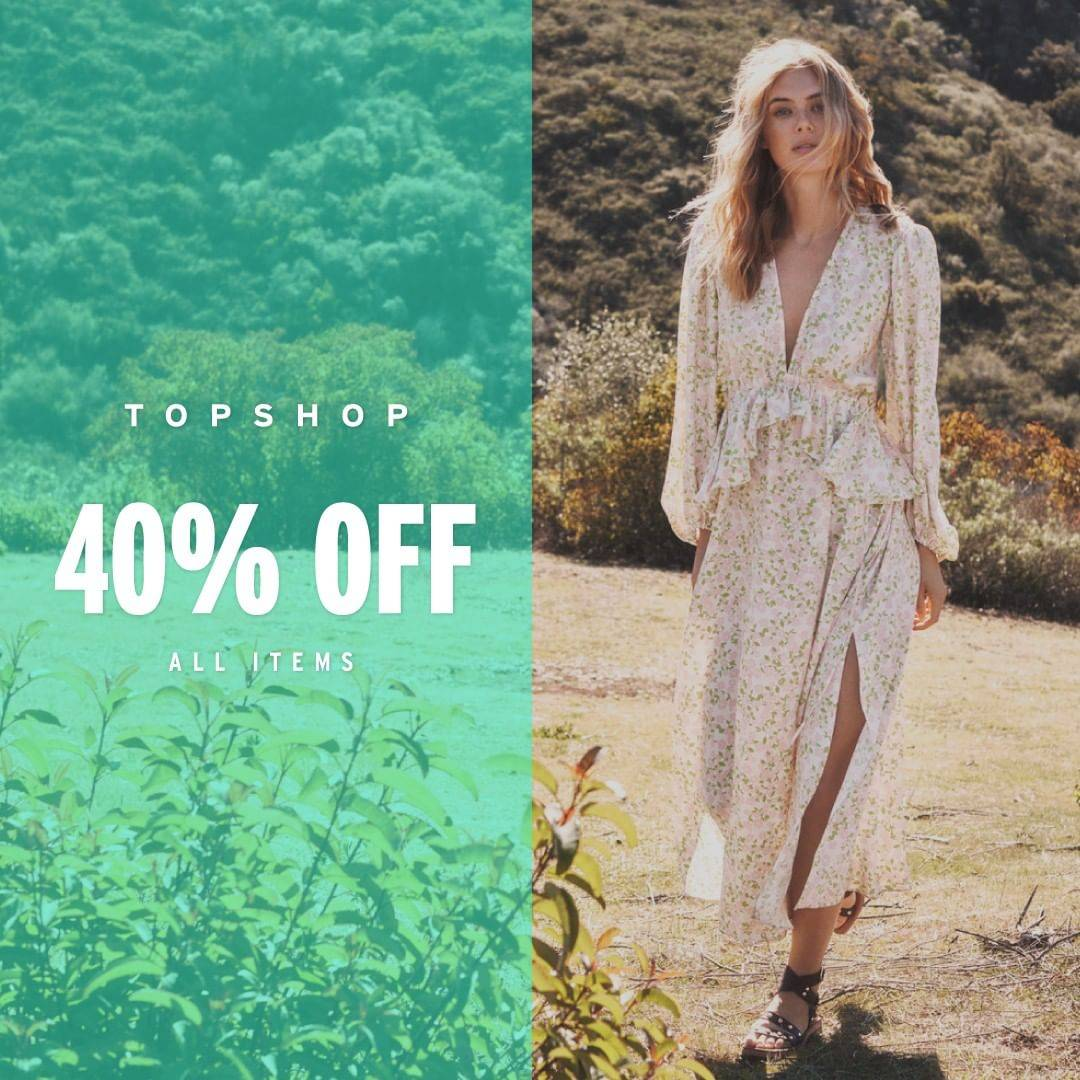Diskon Top Shop/ Top Man Promo Discount Up To 40% Off Of All Items & Selected Items