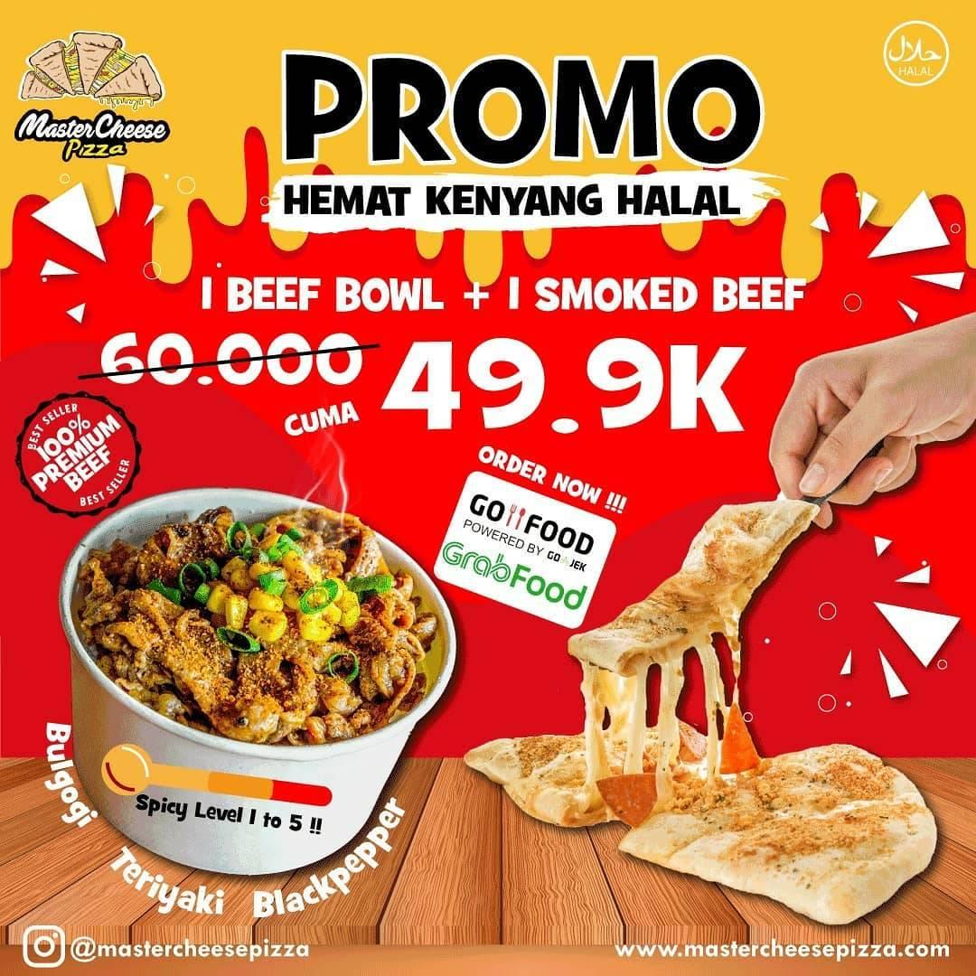 MasterCheese Pizza Promo Diskon 40% Untuk Pemesanan Via GrabFood