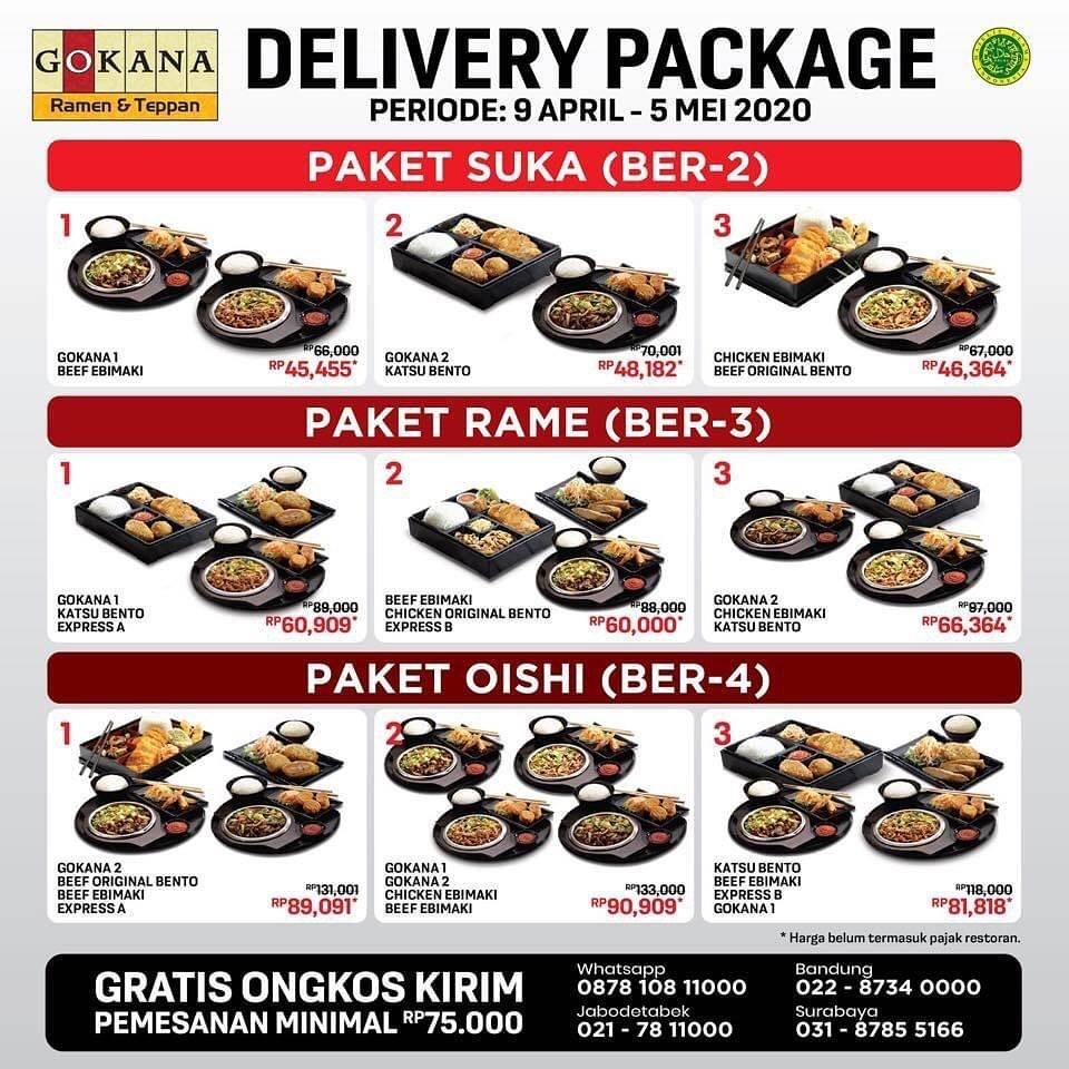 Gokana Ramen & Teppan Promo Paket Delivery Dengan Harga Mulai Dari Rp. 45.455