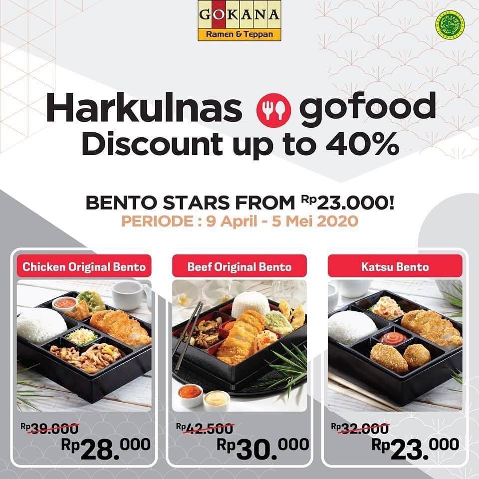 Gokana Ramen & Teppan Promo Diskon Hingga 40% Untuk Menu Bento Hanya Di GoFood