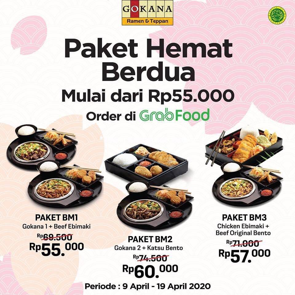 Gokana Resto Promo Paket Hemat Berdua Harga Mulai Dari Rp. 55.000 Hanya Di GrabFood