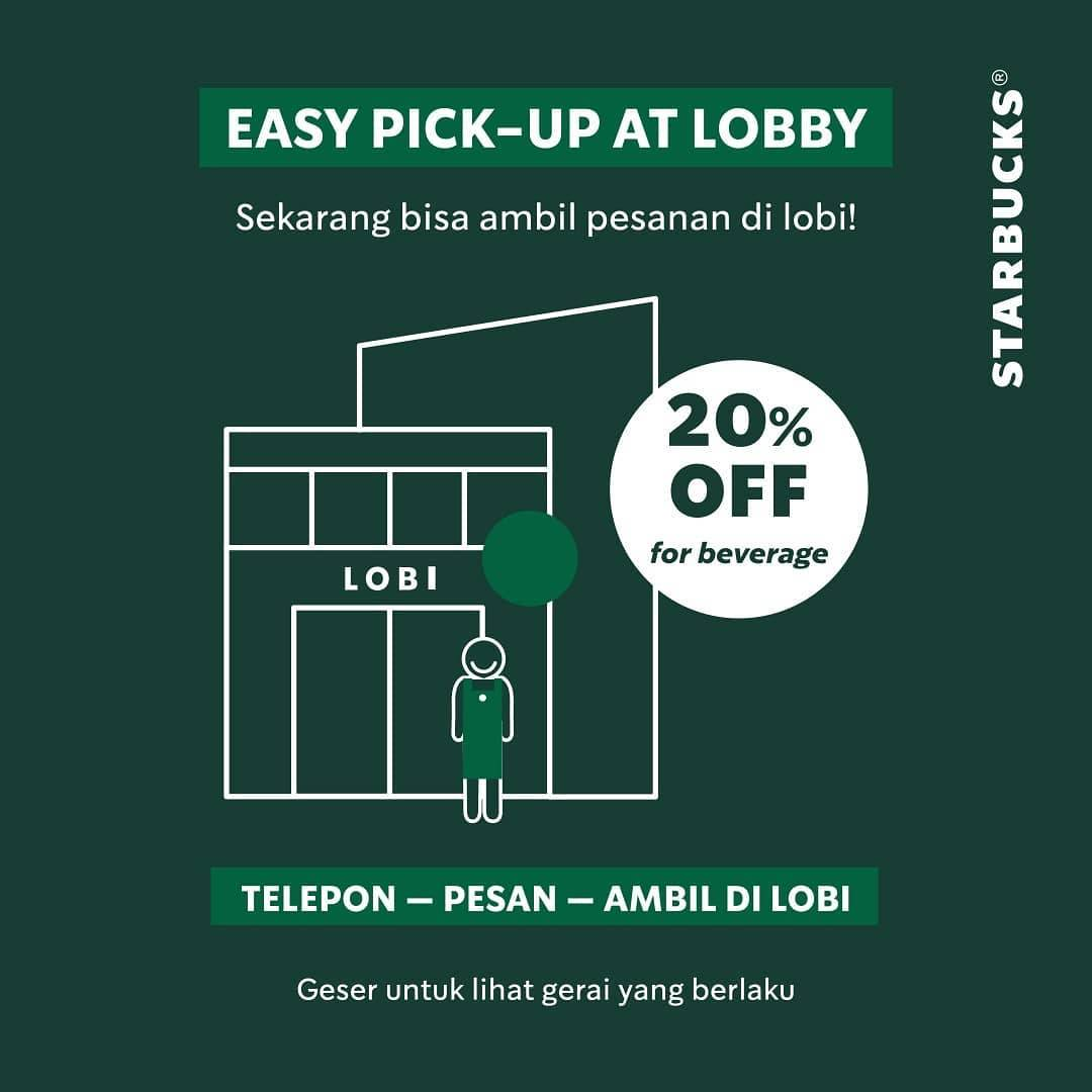 Diskon Starbucks Promo Discount 20% Off For Selected Beverage
