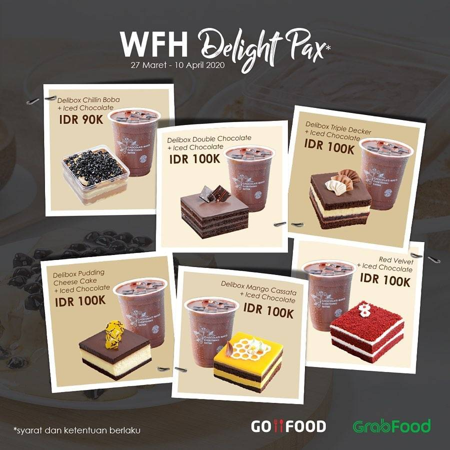 Diskon Dapur Cokelat Promo Special Value Work From Home Delight Pax Only For IDR. 100.000