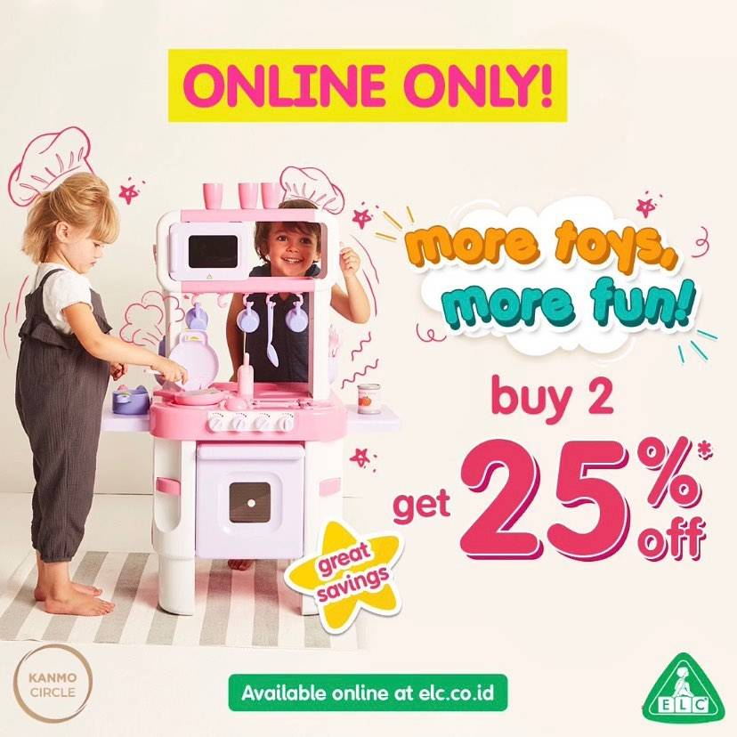 Diskon ELC Promo Buy 2 Get Discount 25% Off