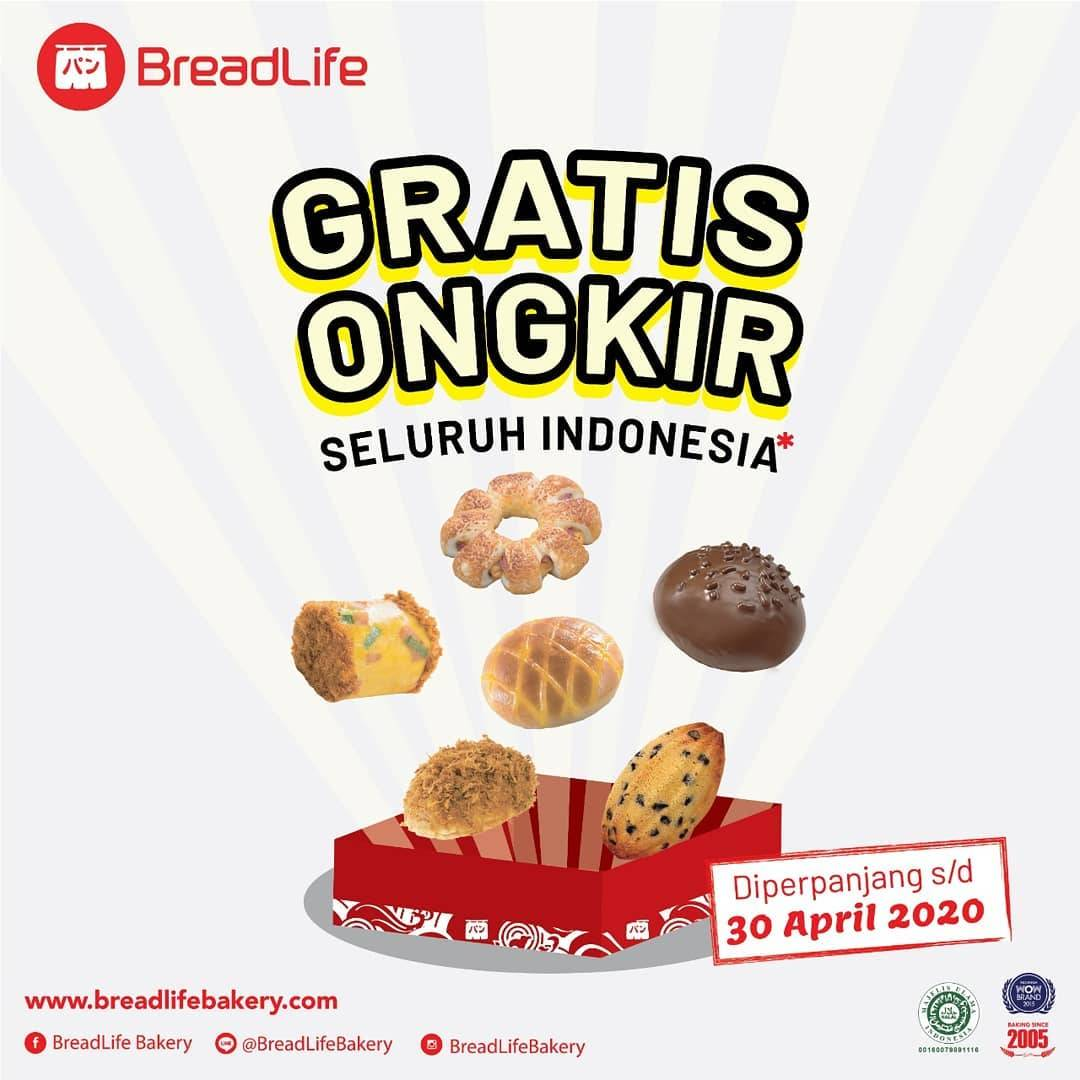 Diskon Breadlife Promo Gratis Ongkir Setiap Pemesanan Minimal Rp. 40.000