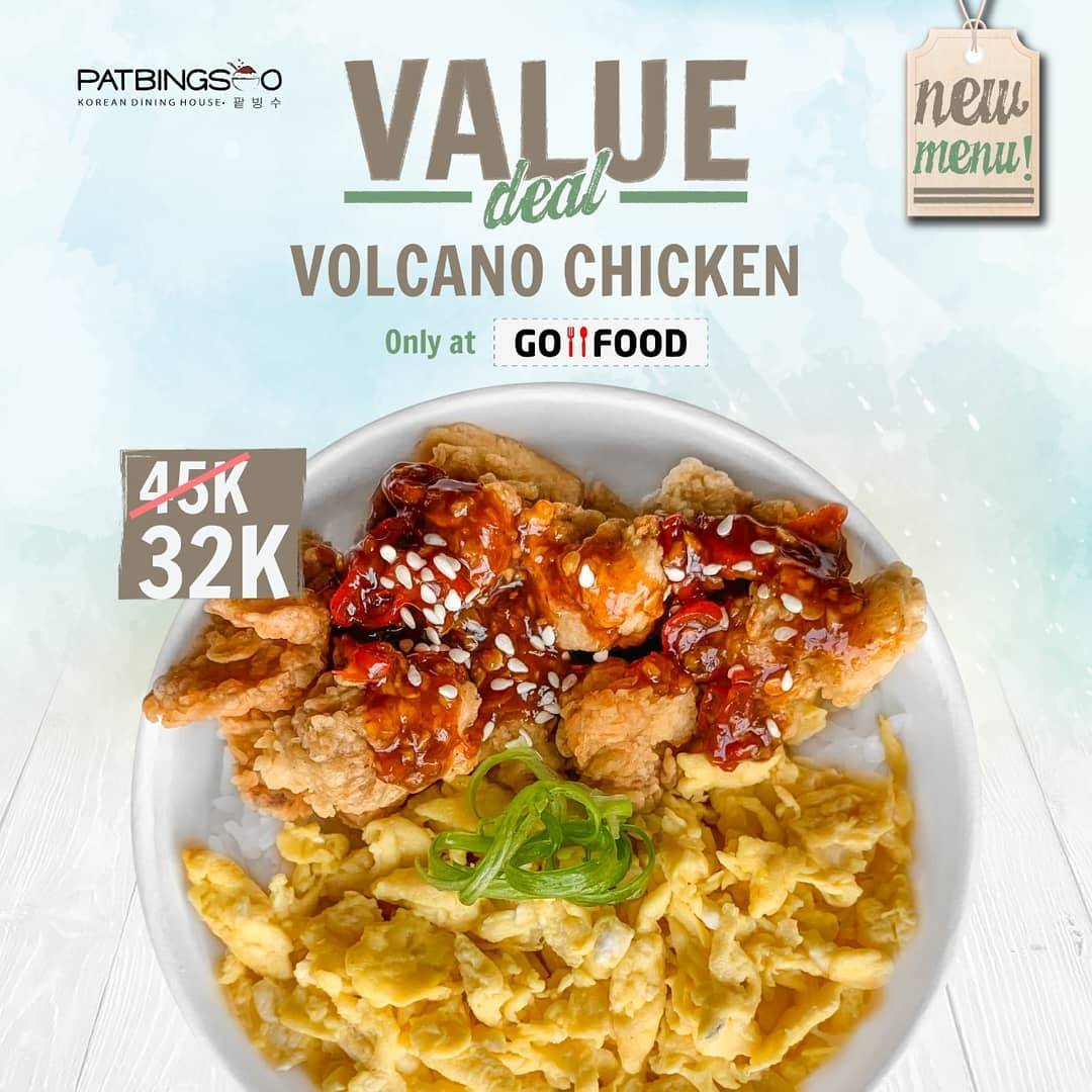 Diskon Pat Bing Soo Promo Volcano Chicken Hanya Rp. 32.000