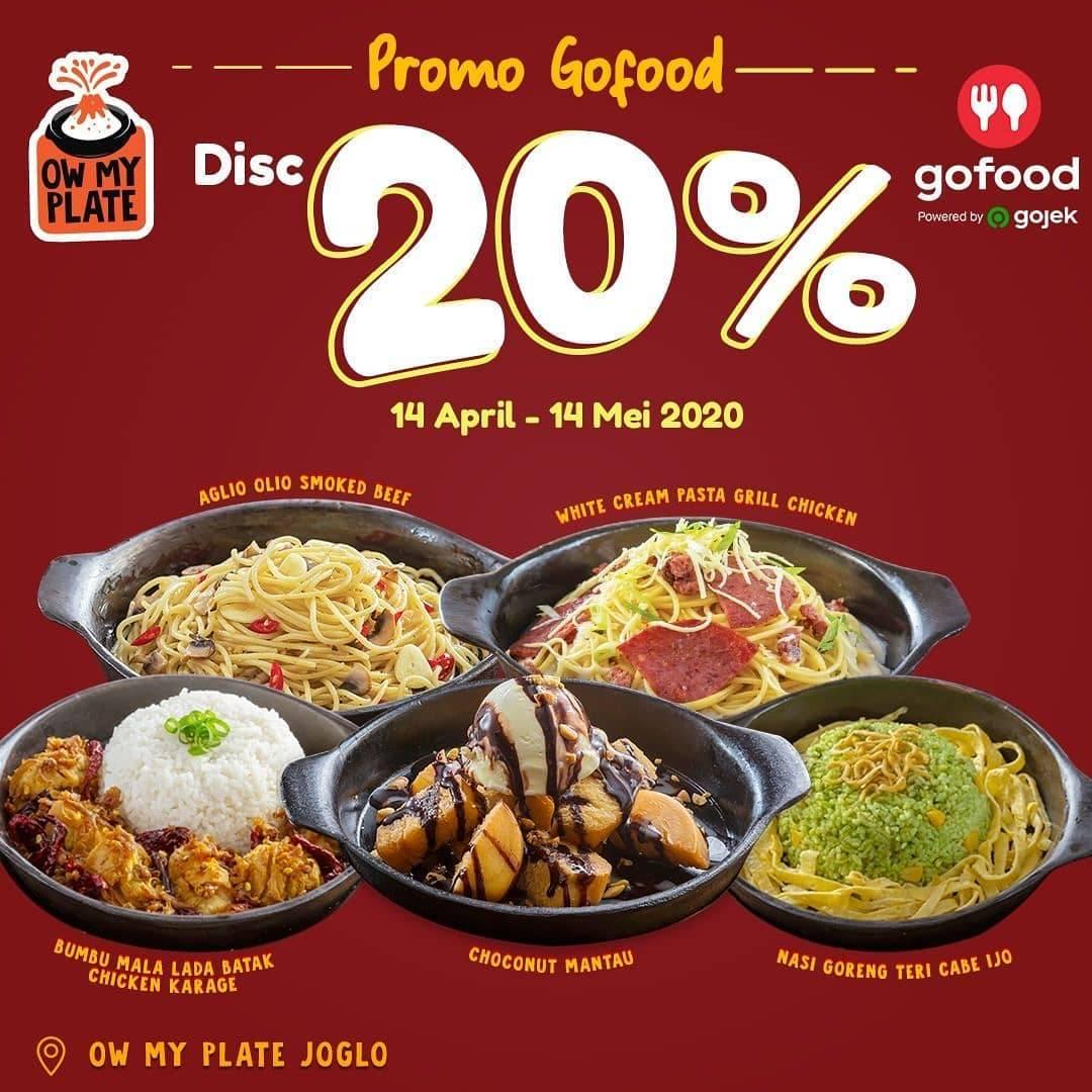 Diskon Ow My Plate Promo Diskon 20% Dengan Pemesanan Via Aplikasi GoFood