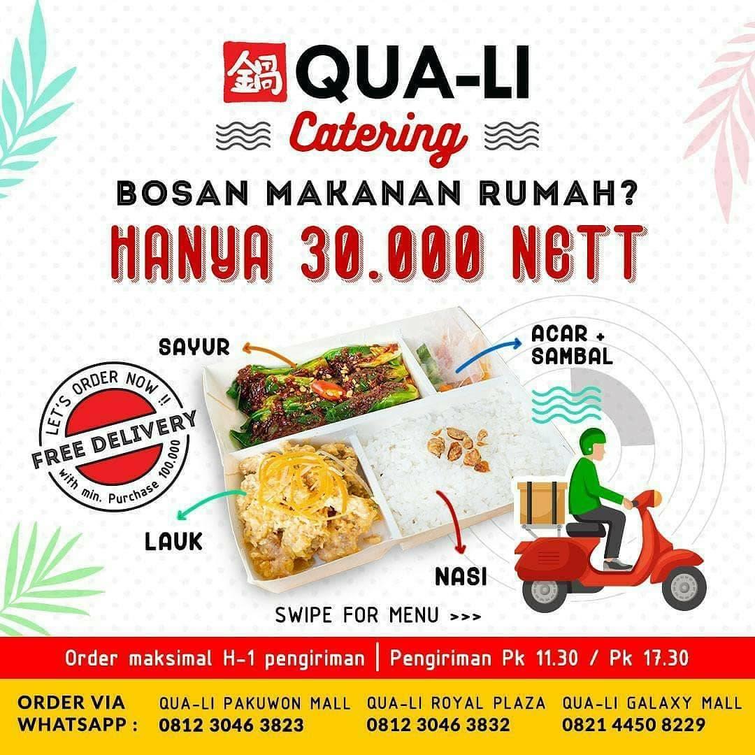Diskon Qua-Li Promo Menu Catering Cuma Rp. 30.000/Nett