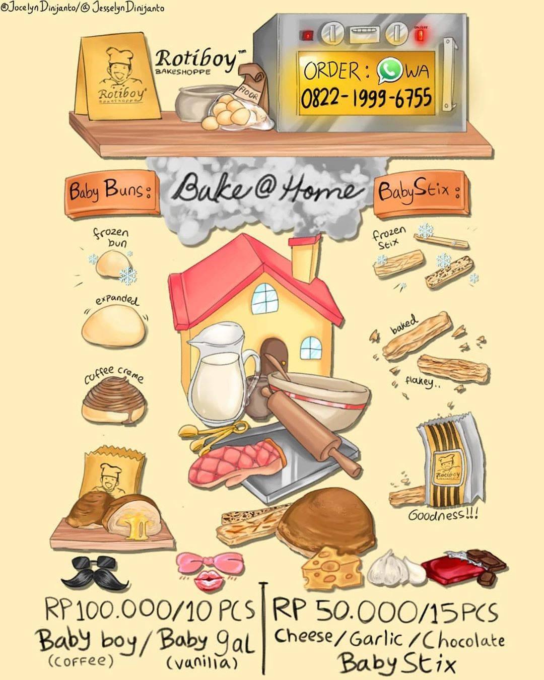 Diskon Roti Boy Promo Bake At Home Baby Girl/Boy & Baby Stix Cuma Rp. 100.000 & Rp. 50.000