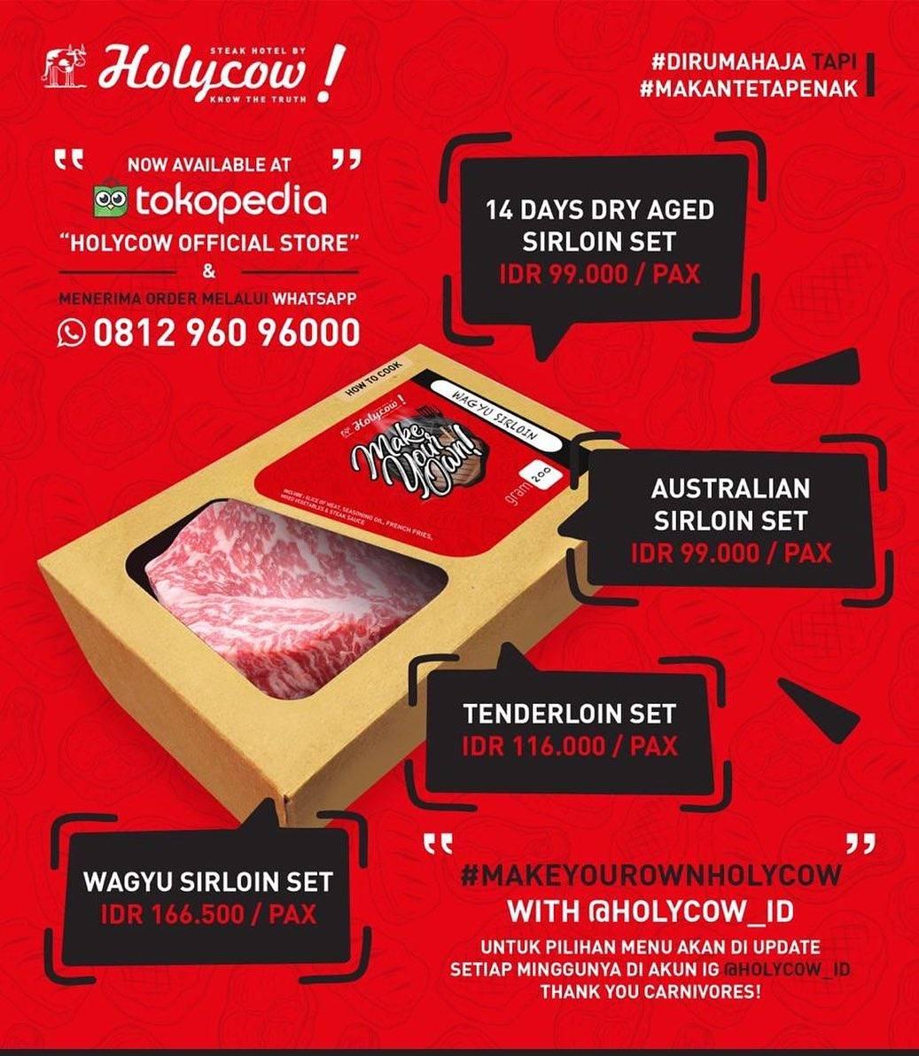 Diskon HolyCow Promo Paket Make Your Own HolyCow Harga Mulai Dari Rp. 99.000 Pesan Via Tokopedia