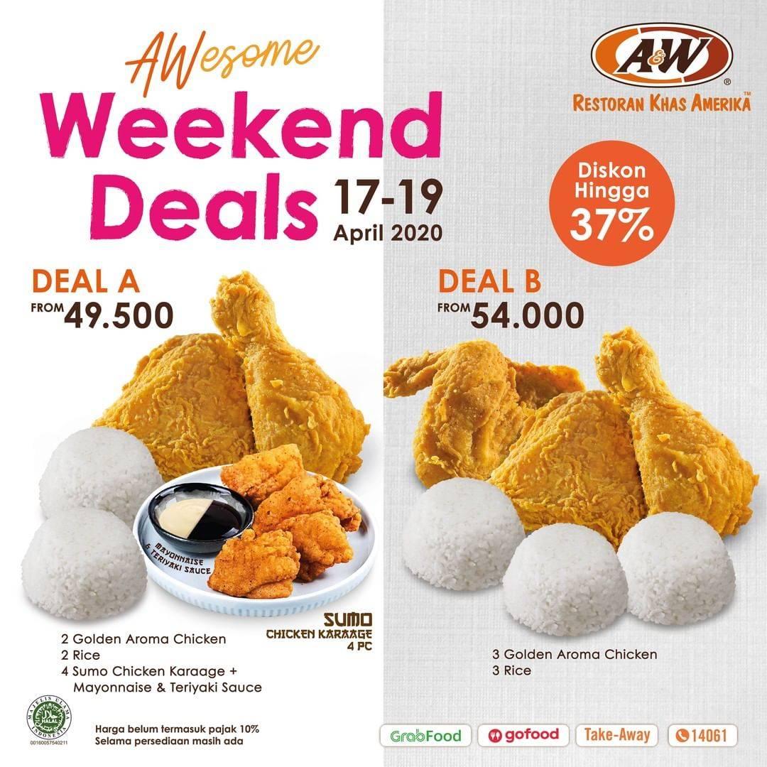 Diskon A&W Promo Awesome Weekend Deals, Diskon Hingga 37% Untuk Paket Pilihan