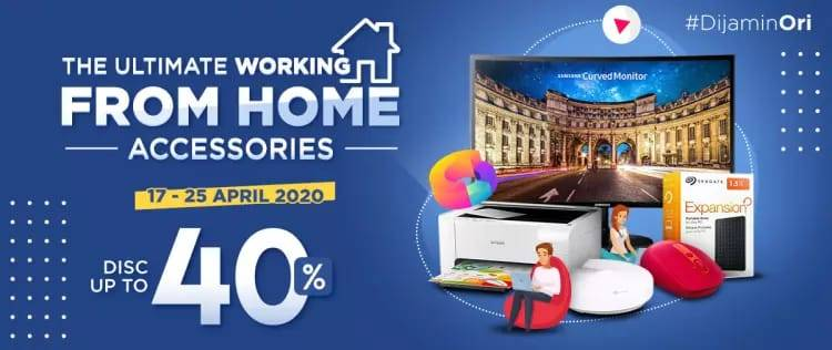 Diskon JD.ID Promo The Ultimate Working From Home Accessories Get Discount Up To 40%