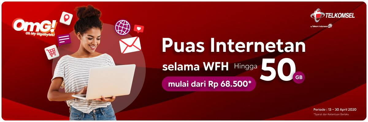 Diskon Blibli Promo Puas Internetan Selama Work From Home Hingga 50GB Harga Mulai Dari Rp. 68.500