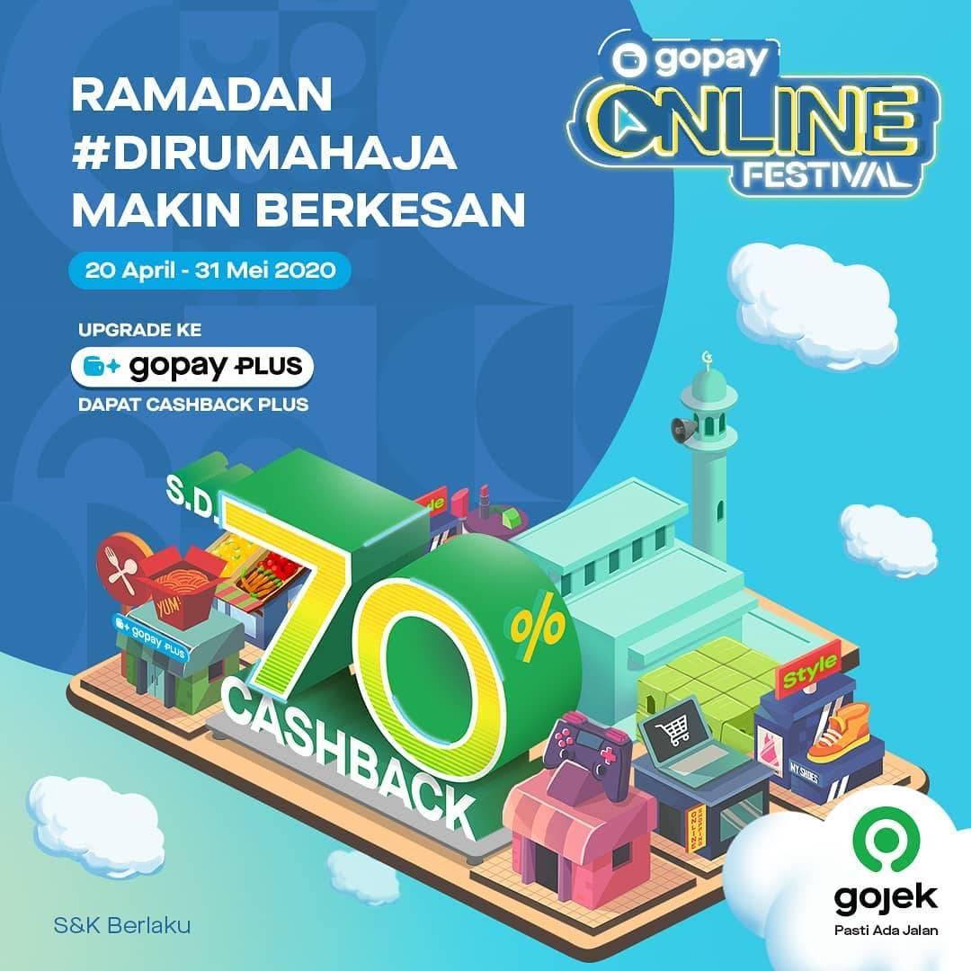 Diskon Gopay Promo Online Festival, Cashback Hingga 70%