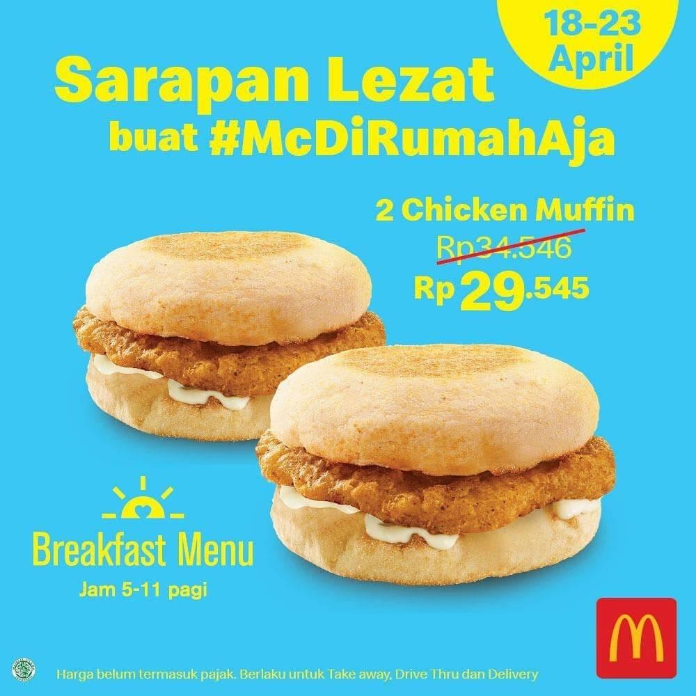 Diskon McDonald's Promo Harga Spesial Breakfast Menu Cuma Rp. 29.545