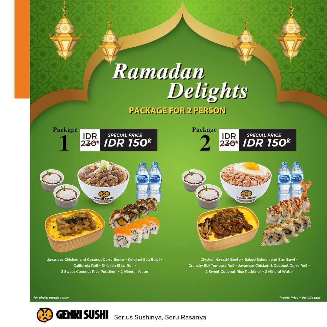 Diskon Genki Sushi Promo Ramadan Delights Package For 2 Person Only For IDR 150.000