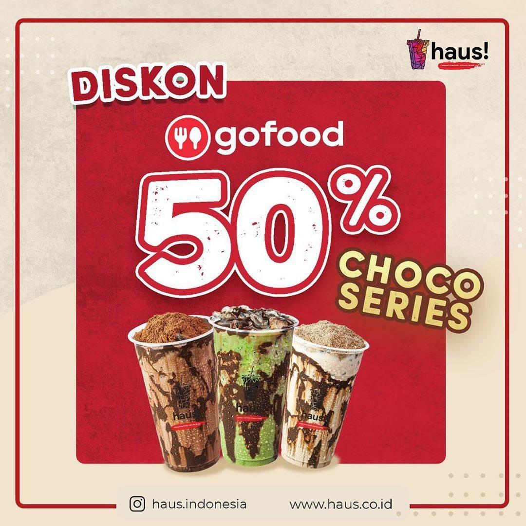 Diskon Haus! Indonesia Promo Diskon 50% Untuk Pemesanan Choco Series Via Aplikasi GoFood