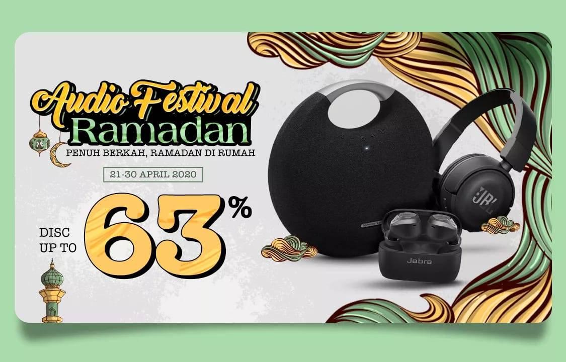 Diskon JD.ID Promo Audio Festival Ramadan, Dapatkan Diskon 63% Untuk Produk Audio Favorit