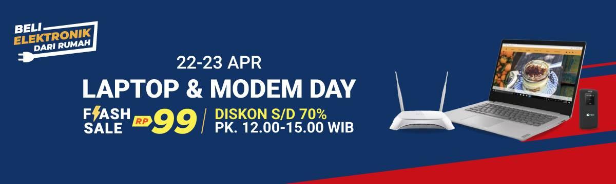 Diskon Shopee Promo Laptop & Modem Day, Flash Sale Rp. 99.000 & Diskon Hingga 70%