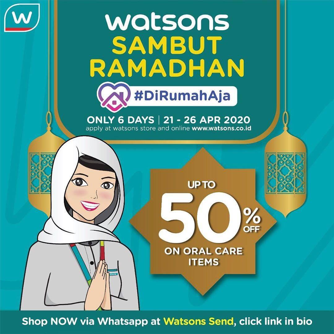 Diskon Watsons Promo Sambut Ramadan Di Rumah Aja, Diskon Hingga 50% Untuk Produk Perawatan Mulut