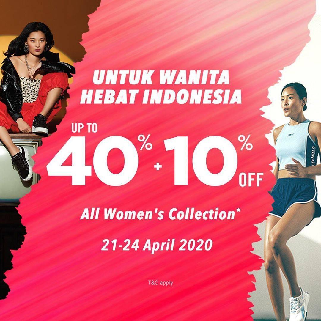 Diskon Planet Sports Promo Diskon Hingga 40% + 10% Untuk Koleksi Item Fashion Wanita