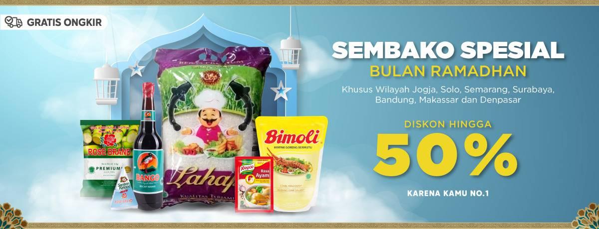 Diskon Blibli.com Promo Diskon 50% Untuk Produk Sembako Spesial Ramadhan Go Local