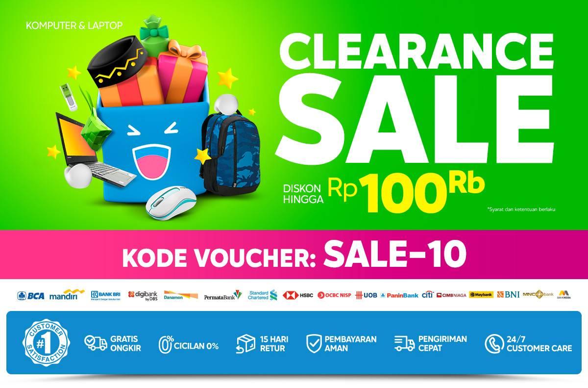 Diskon Blibli.com Promo Clearance Sale Diskon Hingga Rp. 100.000 Untuk Peralatan Laptop & Komputer