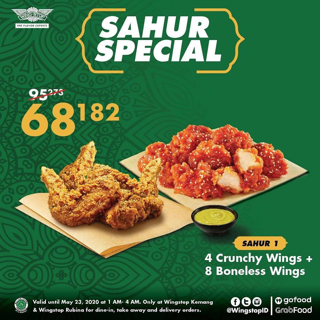 Diskon Wingstop Promo Sahur Special, Harga Spesial Paket Sahur 1 Cuma Rp. 68.182