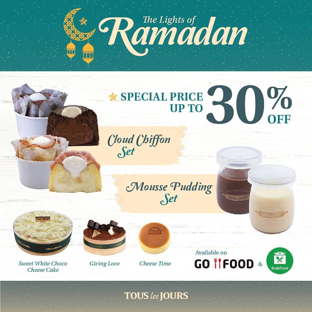 Diskon Tous Les Jours Promo The Lights Of Ramadhan, Discount 30% Off By Ordering Thru GrabFood/GoFood