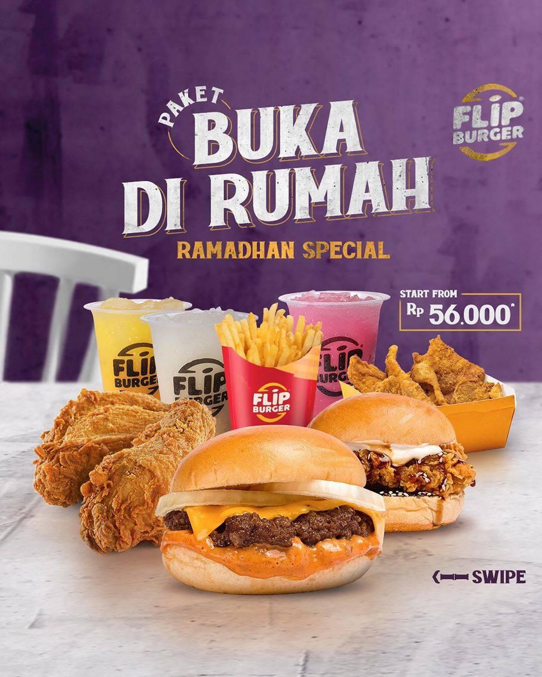 Diskon Flip Burger Promo Paket Buka Di Rumah Spesial Ramadhan Dengan Harga Mulai Dari Rp. 56.000